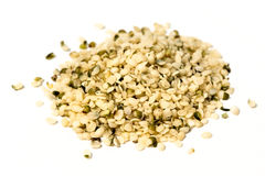 Hemp hearts. On a white background royalty free stock images