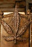 Hemp leaf Royalty Free Stock Photo