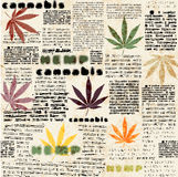 Hemp leaves newspaper Royalty Free Stock Photography