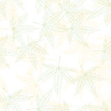 Hemp leaves seamless pattern Royalty Free Stock Images