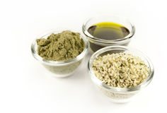 Hemp products Stock Photo