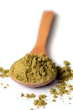 Hemp protein powder Royalty Free Stock Image