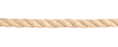 Hemp rope. Standard hemp rope. All isolated on white background royalty free stock image