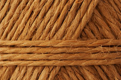 Hemp rope. Rope made from hemp Stock Photo