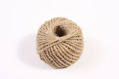 Hemp rope clew on white  Royalty Free Stock Image