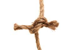 Hemp rope isolated on a white background Stock Photo