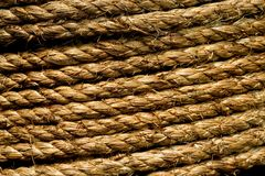 Hemp rope texture Royalty Free Stock Photo