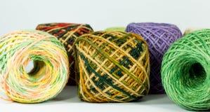 Hemp rope texture for handicraft. Colorful hemp rope roll , yarn, thread, string for handicraft Royalty Free Stock Photo