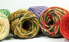 Hemp rope texture for handicraft. Colorful hemp rope roll , yarn, thread, string for handicraft Stock Photo