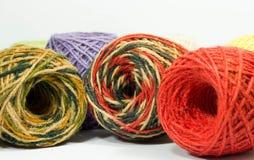 Hemp rope texture for handicraft. Colorful hemp rope roll , yarn, thread, string for handicraft Royalty Free Stock Image