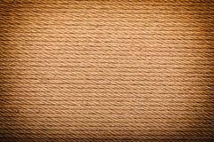 Hemp rope with vignette. Hemp rope in full frame with vignette Royalty Free Stock Images