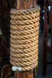 Hemp rope woven several levels Royalty Free Stock Images