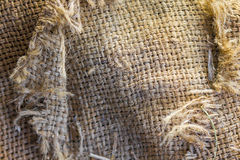 Hemp sacks. The background color of the sacks Royalty Free Stock Images
