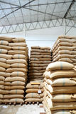 Hemp sacks containing rice Royalty Free Stock Photography