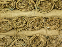 Hemp sacks Stock Photography