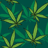 Hemp Seamless Pattern Royalty Free Stock Photography
