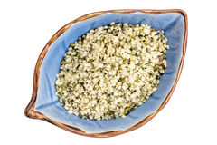 Hemp seed hearts in a bowl Royalty Free Stock Photo