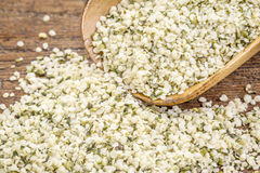 Hemp seed hearts Royalty Free Stock Images