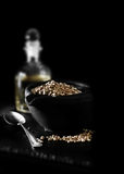 Hemp Seed and Oil II Royalty Free Stock Photography