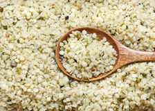 Hemp seeds close up Stock Photo
