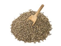 Hemp Seeds with spoon Royalty Free Stock Photos