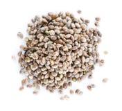 Hemp Seeds on white Stock Images