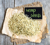 Hemp seeds Royalty Free Stock Photography