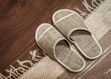 Hemp slippers Royalty Free Stock Photo