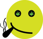 Hemp Smiley. Illustration of a smiley with hemp in the eyes Stock Image