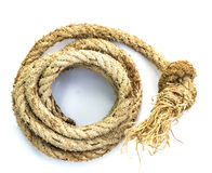 Hemp three strand rope coiled Royalty Free Stock Images