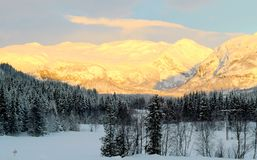 Hemsedal ski resort, Norway. Morning at Hemsedal ski resort, Norway Royalty Free Stock Photo
