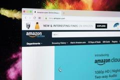Hemsida av den online-e-kommers marknadsplatsamasonen com på den iMac bildskärmskärmen Den största online-säljare- och handelplat Royaltyfria Foton
