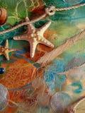 Hemslöjd på det marin- temat arkivbild