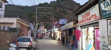 Hemsl?jdmarknadsboulevard RoadSrinagar Kashmir royaltyfri foto