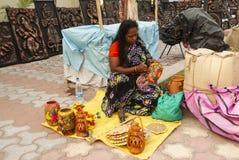 Hemsl?jd v?stra Bengal, Indien arkivbild
