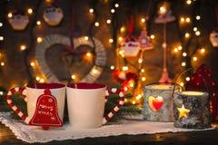 Hemtrevlig jul Arkivfoton