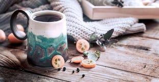 Hemtrevlig kopp te Royaltyfri Foto