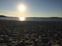 Hemtrevlig strand Arkivfoto