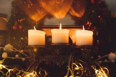Hemtrevlighet för hem för krans för attribut för julhelgdagsafton arkivbilder