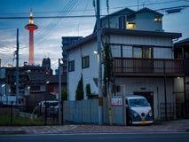 Hemtrevligt hem i kyoto royaltyfri fotografi
