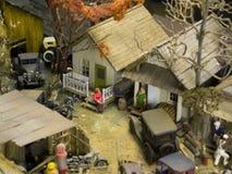 hemtrevligt little town Arkivbild