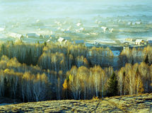 Hemu, a small village in Xinjiang, Stock Image