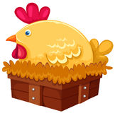Hen. Illustration of isolated a hen on white background Royalty Free Stock Image