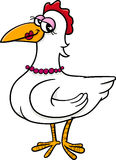 Hen bird farm animal cartoon Stock Photo