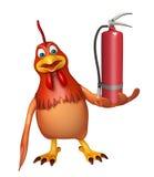 Hen cartoon character Hen cartoon character  with fire extingui. 3d rendered illustration of Hen cartoon character  with fire extinguisher Royalty Free Stock Photos