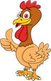 Hen cartoon with thumb up Royalty Free Stock Images