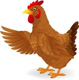 Hen cartoon waving Royalty Free Stock Photography