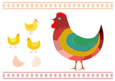 Hen and chicken. Stock Images