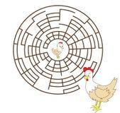 Hen&chicken. Puzzle for children, help to find hen's chicken Royalty Free Stock Image