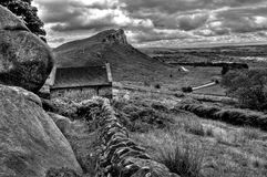 Hen Cloud. The Roaches, Staffordshire, looking towards Hen Cloud stock photo